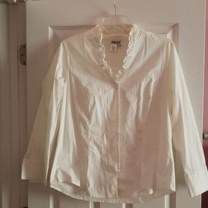 Colwater Creek white blouse.